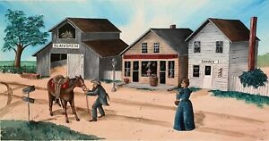 AFRICAN AMERICAN ART Signed Giclee on Canvas by Kelly Wicker Blacksmith Barber
