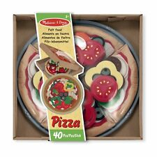 MELISSA AND DOUG FELT FOOD PIZZA PLAY SET 40 PIECES BRAND NEW & SEALED