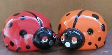 New Magnetic Ceramic  Salt and Pepper Kissing Lady Bugs 3""