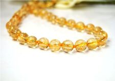Beautiful Citrine Chain in Ball Shape D-10 mm Lock Made of 925 Silver