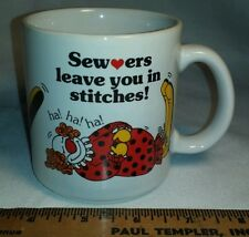 Sewers leave you in stitches Coffee Mug great for a Seamstress Pic's of Clowns