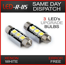 VW Polo 6N2 9N 9N3 + GTI 3 LED Canbus Number Plate Bulbs C5W Xenon White