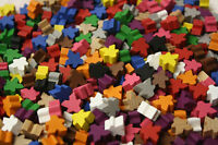 Pack of 5 Mini meeples in 1 of 12 colours