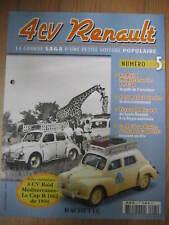 FASCICULE 5 RENAULT 4CV  RAID MEDITERRANNEE LE CAP