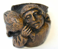 Poacher Miniature Medieval Reproduction Church Carving Unique Hand Made Giftware
