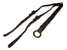Ralph Lauren Blue Label M Brown Suede Leather Polo Western Double Buckle Belt