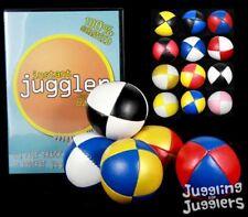 5 x '8 ball' beanbag juggling balls and free instructional DVD deal