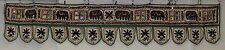 Hermoso Espejo indio de doble longitud Toran blanco con borde verde (DTR5)
