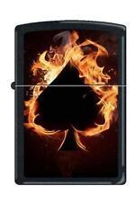 Zippo 0242 ace of spades flaming black matte Lighter