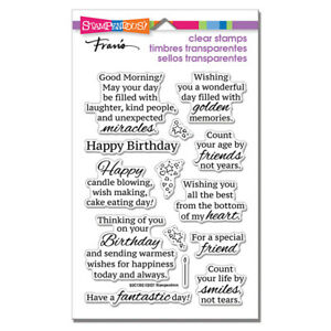 Sentiments & Sayings BIRTHDAY CLEAR Rubber Stamp Set STAMPENDOUS SSC1392 New