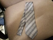 C & A Canada Polyester Blue & White Tie