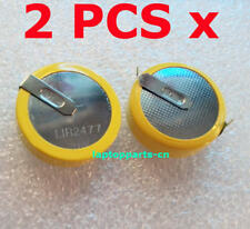 2PCS x 3.6V Tabbed Rechargeable LIR2477 Button Battery With 2 Tabs/Pins
