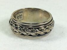 Artisan Crafted Braided Rotating Dome Ring, Size 7 - Fine  E-19*
