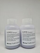 2x Davines Love Shampoo Coarse Or Frizzy Hair 75ml Each Travel Size