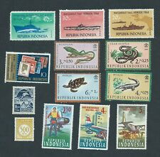 Indonesia Postage stamps 3 series 1964-66.Mint LH