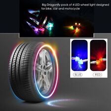 4pcs Car Auto Wheel Tire Tyre Air Valve Stem Led Light Cap Cover Accessories Top