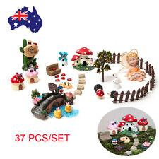 37 Pcs DIY Christmas Plant Dollhouse Kit Miniature Fairy Garden Ornament Decor