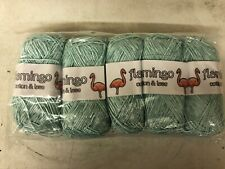 Wool Yarn Knitting/Crochet 100% Acrylic's Flamingo 5x100g Tape Yarn Turquoise