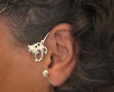 JoliKo Ohrklemme Ohrringe Ear cuff Katze Mietzi Cat Tiere Tattoo Silber pl LINKS