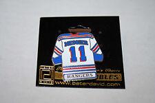 NHL Licensed Mark Messier Jersey #11 Lapel Pin New York Rangers
