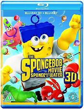 The Spongebob Movie Sponge Out of Water 3D + 2D Blu-Ray BRAND NEW Free Ship