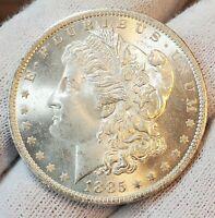 1885 o BU UNC++ BLAZING BLAST WHITE SUPER GEM!! MORGAN SILVER DOLLAR LOT #W34