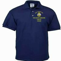 USS SOUTH CAROLINA  CGN-37  CRUISER NAVY  EMBROIDERED LIGHT WEIGHT POLO SHIRT