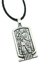 "Anubis Pendant Egyptian God Jackal Protection 18"" Twist Cord Necklace Jewellery"