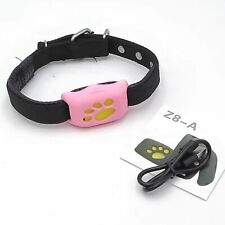 Z8-A Adorable Pet Exclusive WiFi GPS SIM Tracker Collar for Pets Pink Yellow
