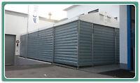 Lagerzelt Lagerhalle Trapezblechhalle 6x12m / 1x Schiebetor / Grau-weiß