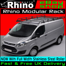 (SWB,Low Roof) Rhino Modular Van Roof Rack +Roller Ford Transit Custom 2013-2018