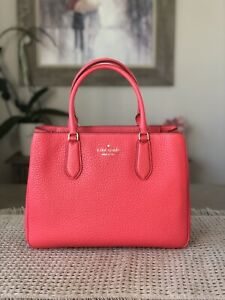 KATE SPADE LEIGHTON LARGE SATCHEL SHOULDER TOTE BAG DIGITAL RED LEATHER $399
