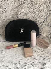 Chanel Beaute Cosmetic Make Up Bag Mesh Black Lightweight USA Seller