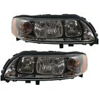 Headlight Set For 2004-2009 Volvo S60 Left and Right With Bulb 2Pc