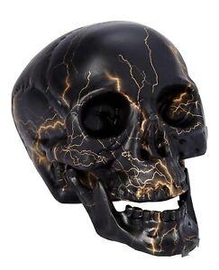 Skull Bronze Lightning House Decor Halloween Decoration Spirit