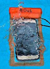 B.Out WATERPROOF Cell Phone Case (TRANSPARENT/Orange)-PREMIUM QUALITY