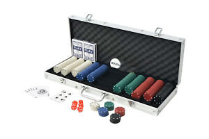 Set poker 500 fiches chips 2 mazzi carte gettone deal kit texas holdem valigetta