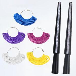 Kunststoff Ringgrößensucher Dorn Stick Fingerlehre Kit DIY Schmuckherstellung SC