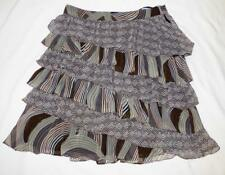 LOVERS 10 12 geometric print RUFFLE LAYER SKIRT tier XC  BUY 3+ITEMS= FREE POST