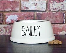 medium slanted dog food bowl hand painted personalised ceramic dog bowl dish