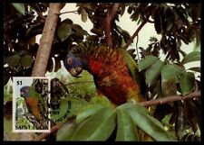 ST. LUCIA MK VÖGEL PARROT BLAUSTIRNAMAZONE MAXIMUMKARTE MAXIMUM CARD MC CM /m877