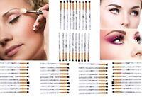 10PCS Marble Make up Brushes Set Eyeshadow Eyeliner Blending Eyebrow with PU Bag