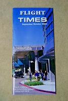 Flight Times - San Diego International Airport - Sept/Oct, 2002