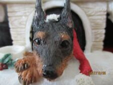 Miniature Pinscher ~ Doghouse Ornament ~ 48