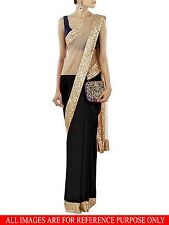 Veeraa Saree Exclusive Beautiful Designer Bollywood Indian Partywear Sari139 BLK