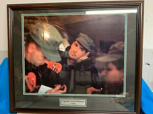 "FRAMED 22 X 28"" PHOTO OF CAPTAIN TED WILLIAMS USMC"