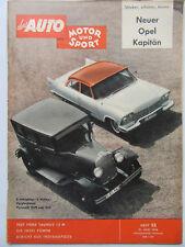 Auto Motor Sport 13/1958, Test: Ford Taunus 12 M, Neuer Opel Kapitän