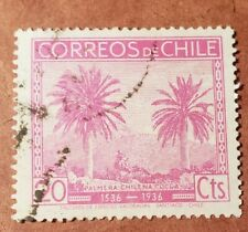 CHILE 1936  Palms  20 cts Used Stamp