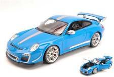 2012 Porsche 911 GT3 RS 4.0 azul metalizado Bburago 11036