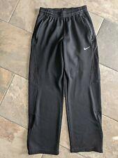 Nike Fit Women Medium Training Gym workout exercise Pants solid black zip pocket